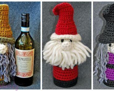 2afb0263c63 Crochet Bottle Buddy Gift Bags Free Crochet Pattern