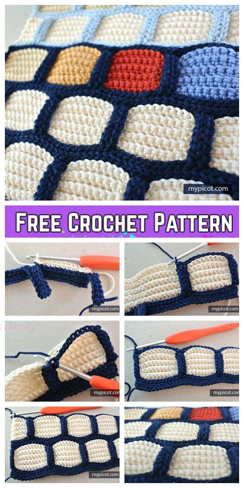 Crochet Brick Stitch Blanket Free Crochet Pattern