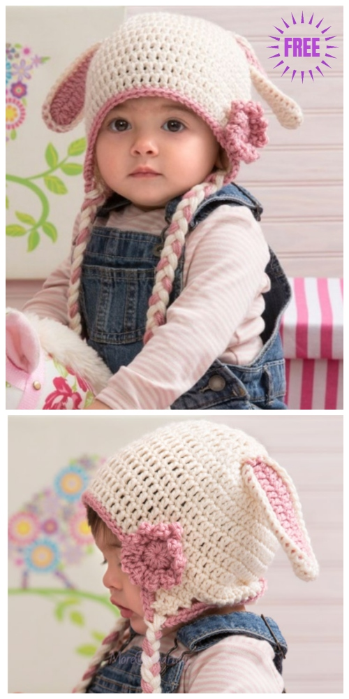 Sweet Bunny Easter Hat Free Crochet Pattern
