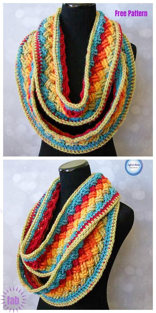 Crochet Celtic Infinity Scarf Cowl Free Crochet Patterns