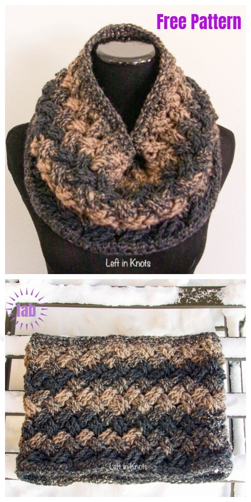 Crochet Winter Celtic Cowl Free Crochet Pattern