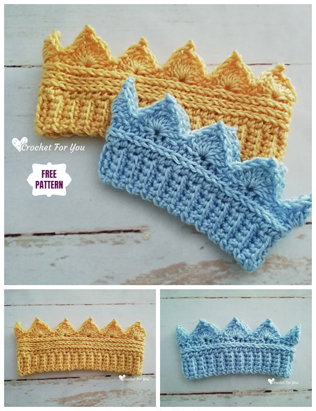 Crochet Baby Crown Ear Warmer Free Crochet Pattern
