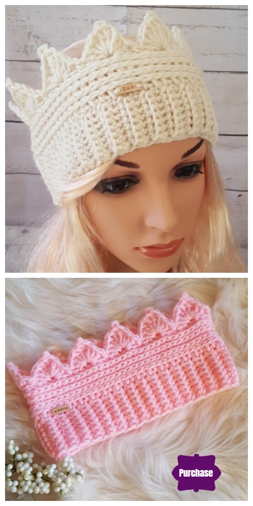 Crochet Crown Ear Warmer Free Crochet Pattern - Product Purchase