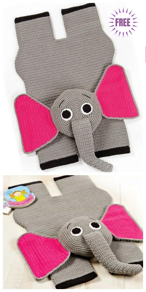 Crochet Elephant Rug Free Crochet Pattern