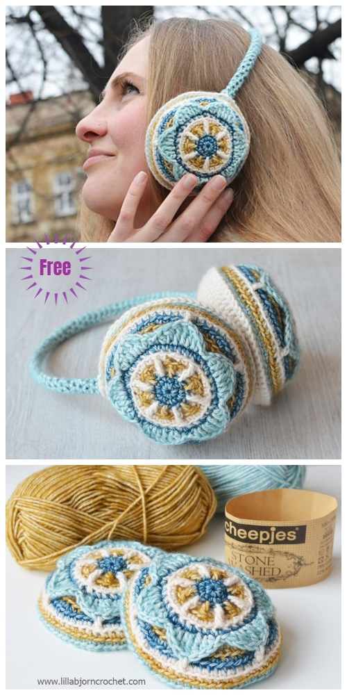 Crochet Floral Ear Muffs Free Crochet Pattern