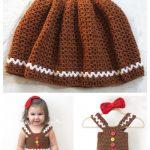 Crochet Gingerbread Girl Dress Free Crochet Pattern