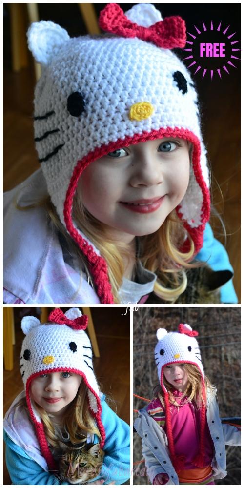 Crochet Hello Kitty Hat Free Crochet Pattern