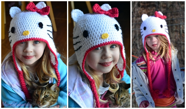 Crochet Hello Kitty Hat Free Crochet Pattern