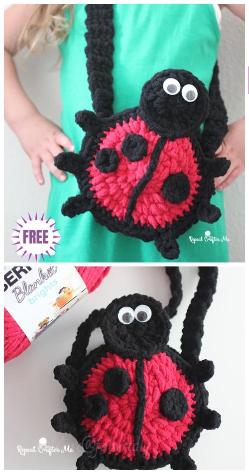 Crochet Ladybug Purse Free Crochet Pattern Pattern for Kids