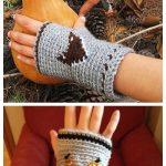 Crochet Mr Fox Fingerless Gloves Free Crochet Pattern