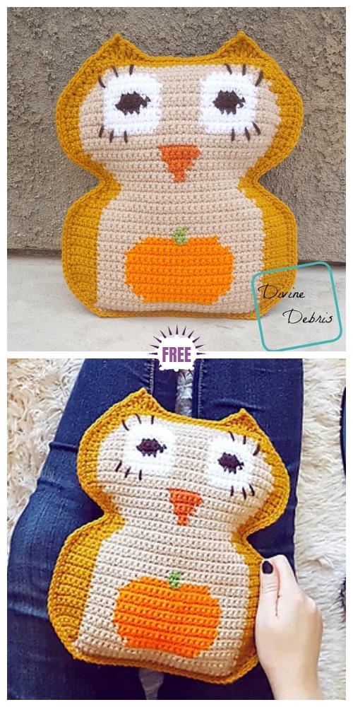 Crochet Pumpkin Belly Owl Amigurumi Free Pattern