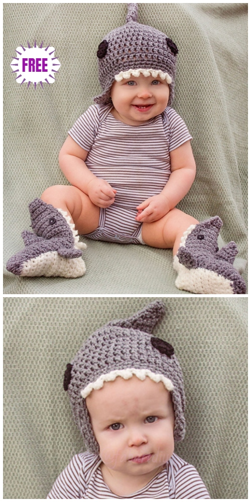 Crochet Shark BeanieHat Free Crochet Pattern