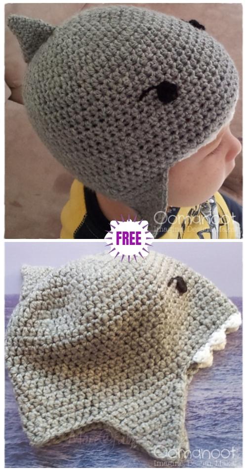 Crochet Jump the SharkHat Free Crochet Patterns