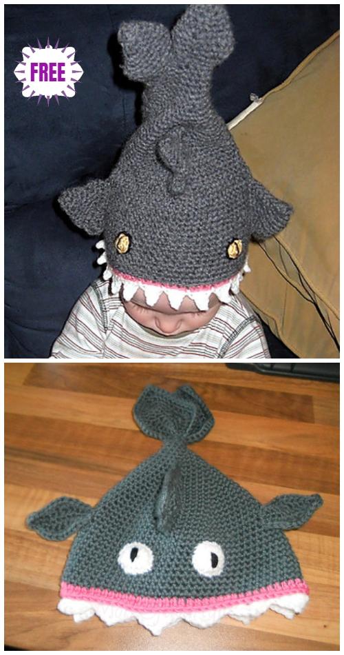 Crochet SharkHat Free Crochet Patterns