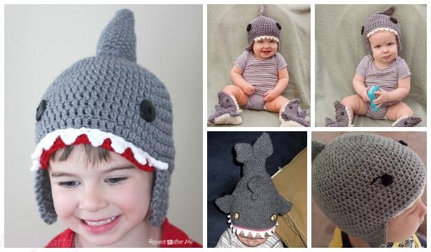 Crochet Shark Hat Free Crochet Patterns cd2f72208193