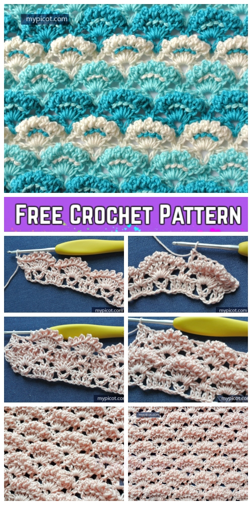 Crochet Textured Shell Stitch Free Crochet Pattern