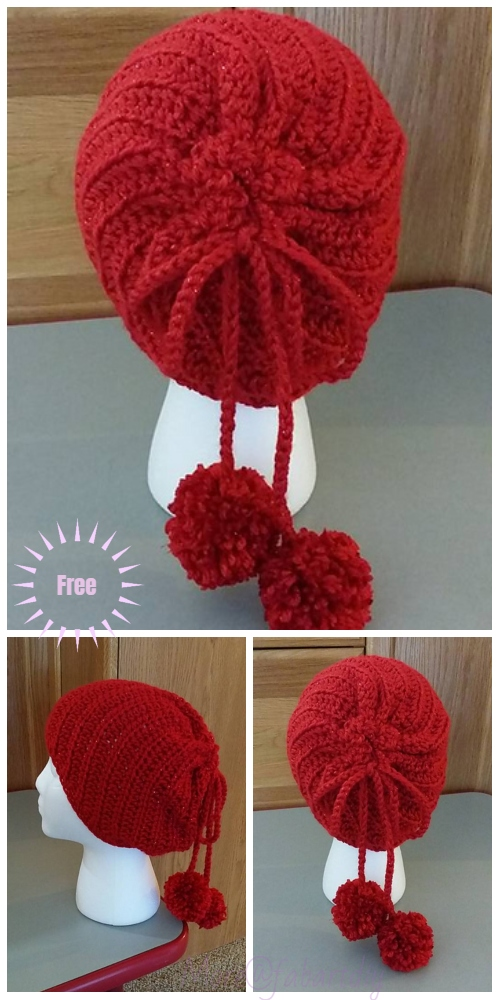 Crochet Twist Slouchy Hat Free Crochet Pattern-Video