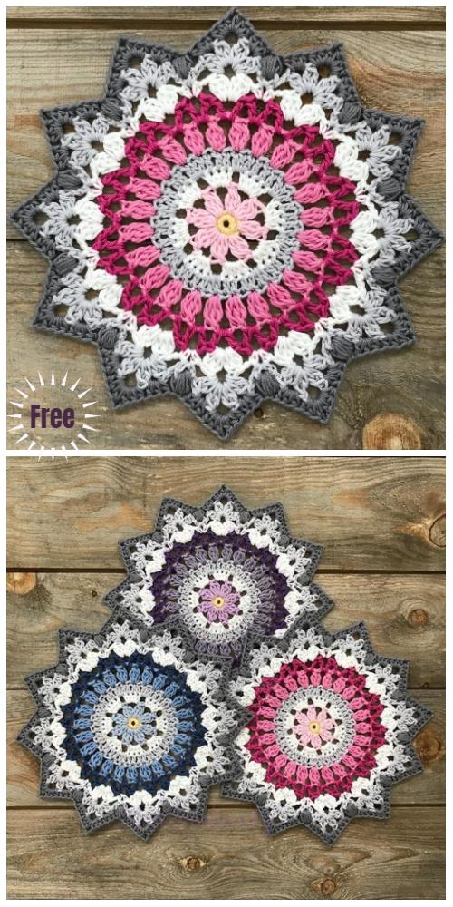 Crochet Winter Mandala Free Crochet Pattern