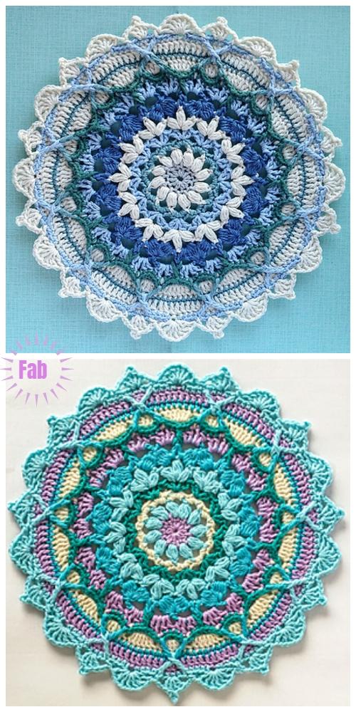 Crochet WinterWonderland Mandala Crochet Pattern