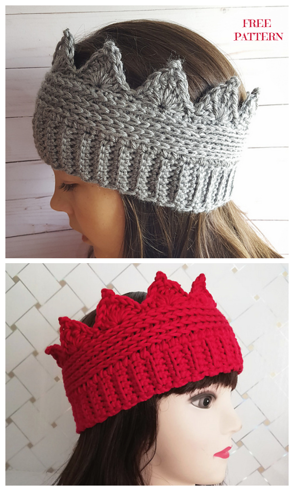 Crochet Crown Ear Warmer Free Crochet Pattern