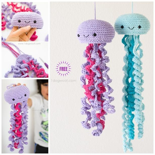 DIY Crochet Jellyfish Toy Amigurumi Free Pattern -Video