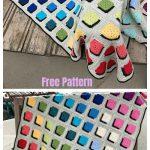 Double A Design Granny Square Blanket Crochet Free Pattern