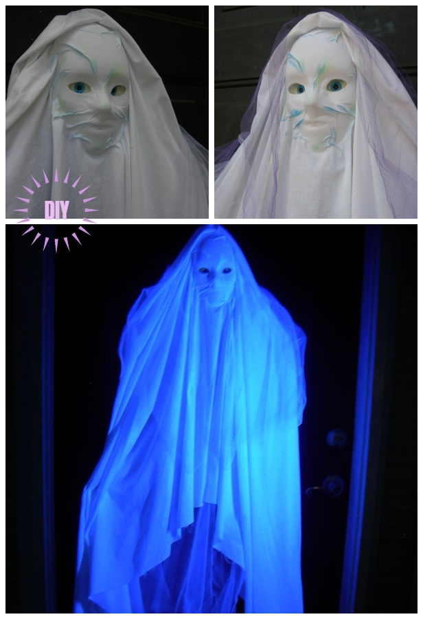 Easy Floating Tracking Ghost DIY Tutorial for Halloween Decor