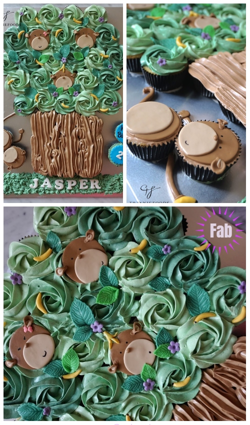 Fun Monkey Pull Apart Cupcake Cake DIY Tutorial