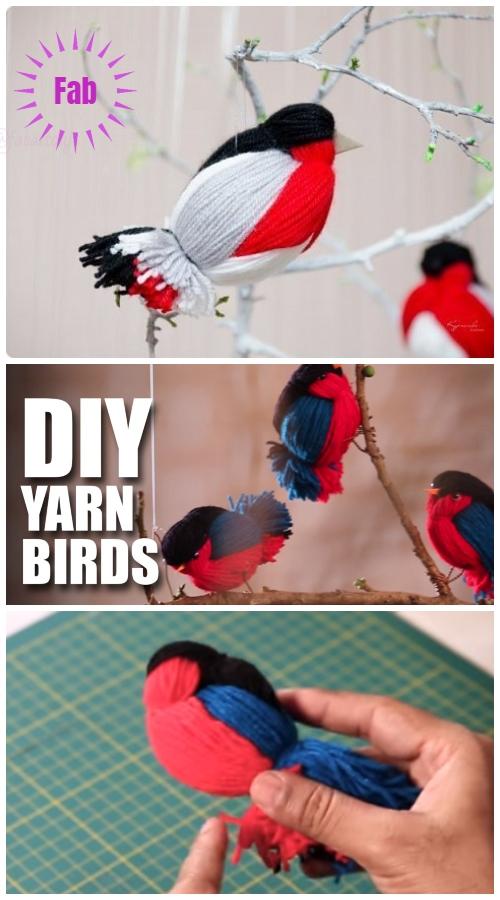 Kids Craft: Fun Yarn Birds DIY Tutorial - Video