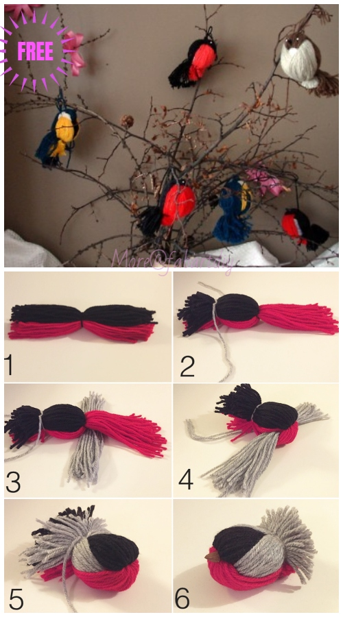 Kids Craft: Fun Yarn Birds DIY Tutorial - Video