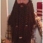 Halloween Crochet Wizard Viking Beard Free Crochet Pattern