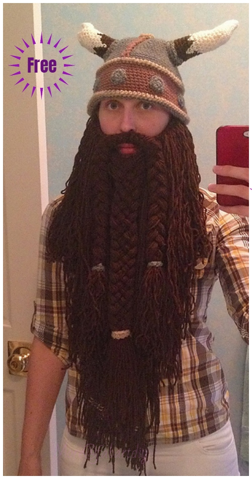 Halloween Crochet Wizard Viking Beard Free Crochet Pattern