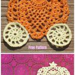 HalloweenDoily Free Crochet Pattern -Pumpkin's equipage motif