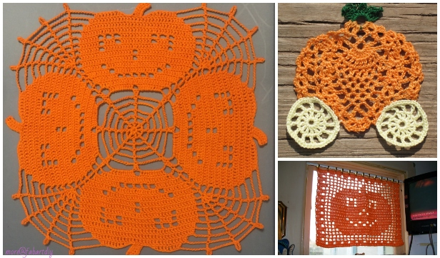 Halloween Crochet Pumpkin Doily Free Crochet Patterns