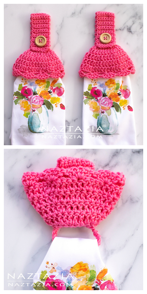 Hidden Hanging Ring Towel Holder Free Crochet Patterns + Video