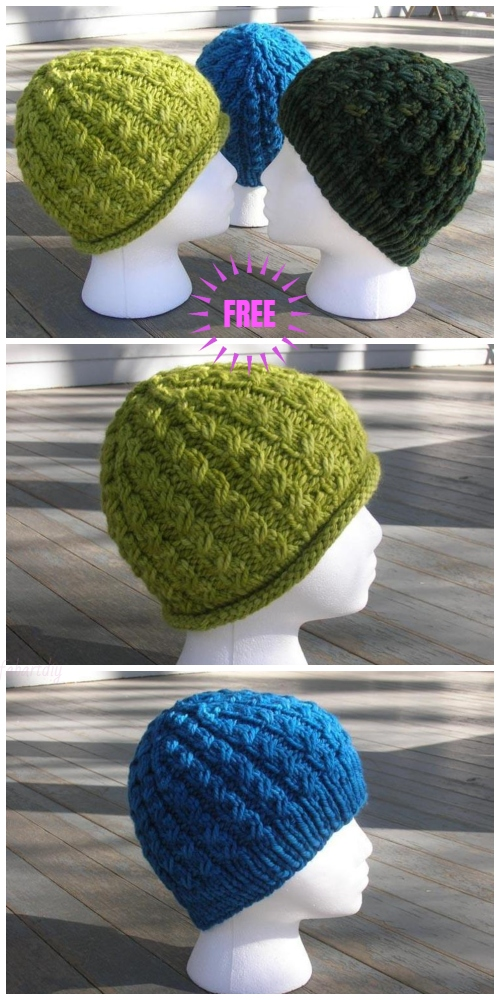 Knit Chunky Dean Street Hat Free Knitting Pattern