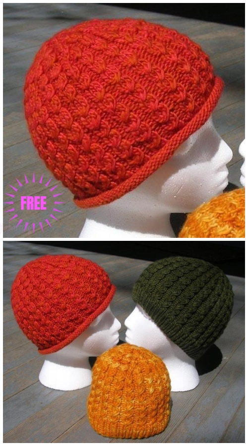 Knit Unisex Cable Dean Street Hat Free Knitting Pattern