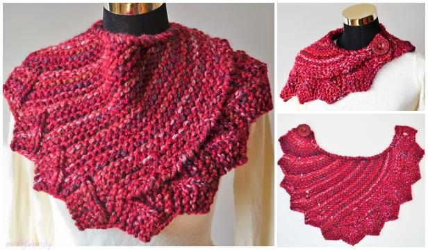 Knit Dragon Fire Cowl Free Knitting Pattern
