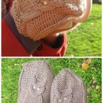 Knit Give a Hoot Cable Owl Mittens Free Knitting Pattern - Adult Size