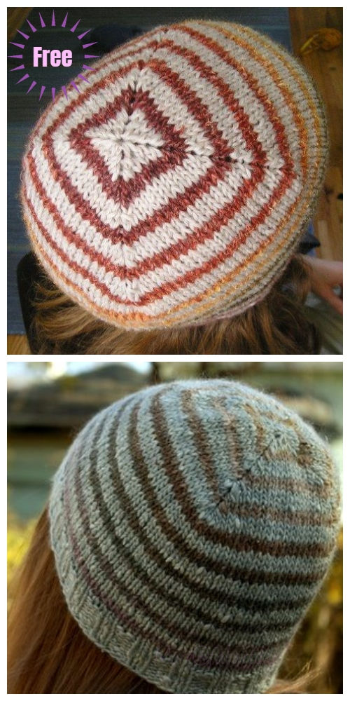 Knit Turn A Square Hat Free Knitting Pattern