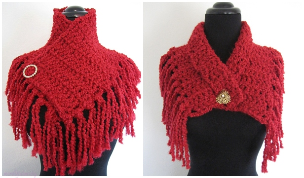 Super Quick and Easy Scarflette Free Crochet Pattern