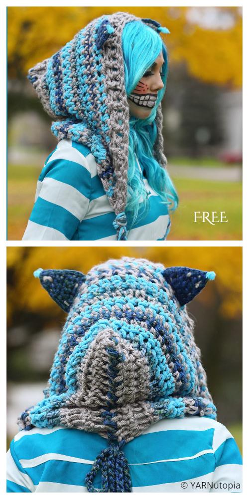 Cheshire Cat Hoodie hoodieFree Crochet Pattern + Video