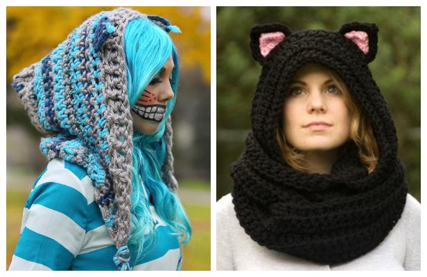 Crochet Cheshire Cat Hoodie ScoodieFree Crochet Pattern