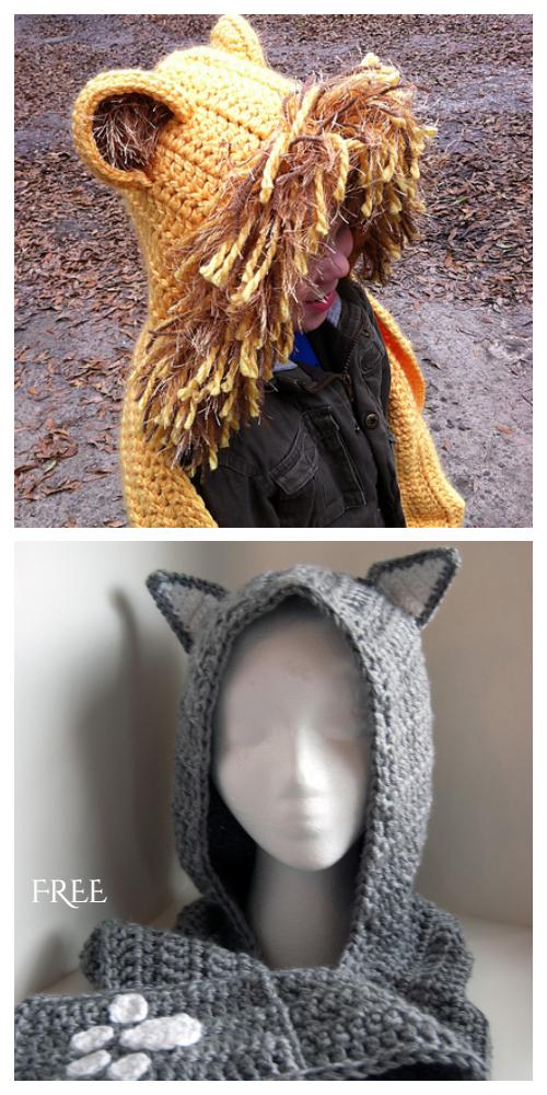 Crochet Cuddly Cat Scoodie Free Crochet Pattern