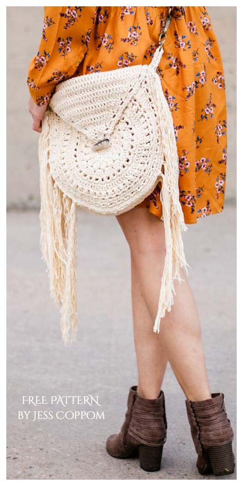 Moonrise Boho Bag Free Crochet Pattern
