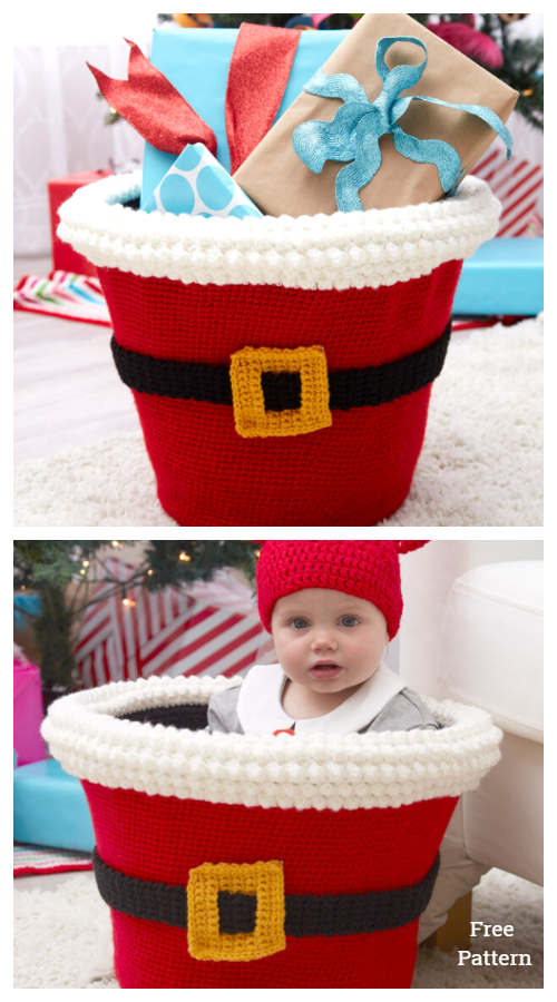 Santa's Gift Basket Free Crochet Patterns
