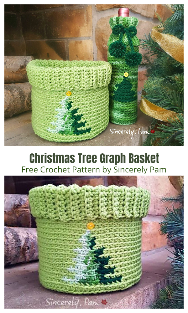 Christmas Tree Graph Basket Free Crochet Patterns