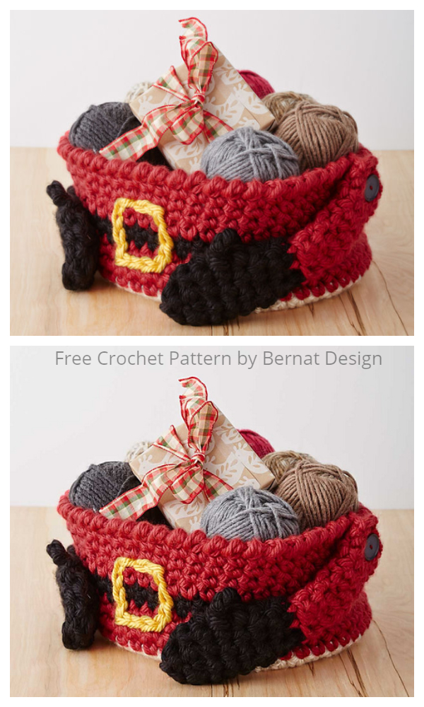 Crochet Santa's Gift Basket Free Crochet Patterns