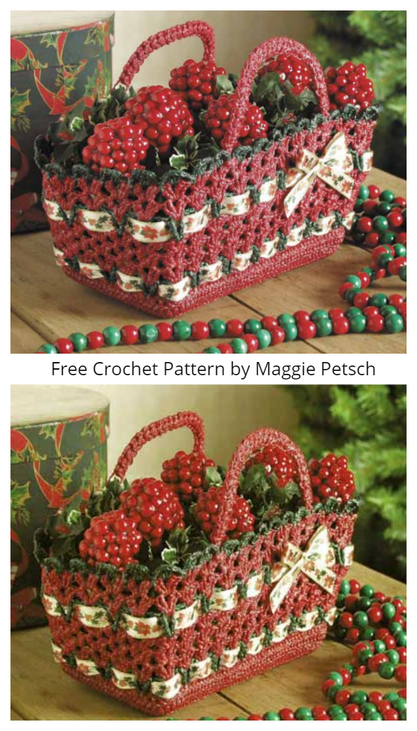 Christmas Basket Free Crochet Patterns