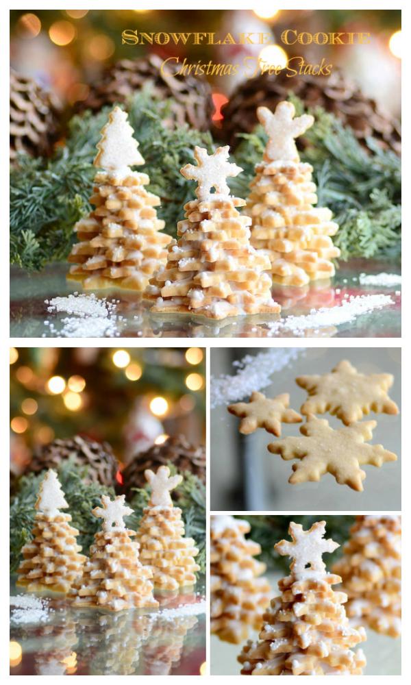 Christmas Recipe: 3DSnowflake Cookie Tree Stack DIY Tutorial